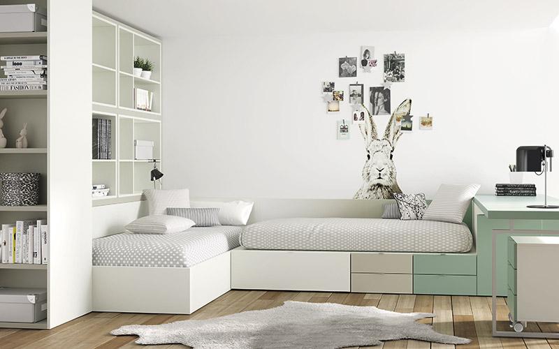 Muebles Vázquez, dormitorio juvenil, compactos