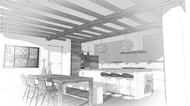 Muebles Vazquez Santa Olalla cocina dibujo