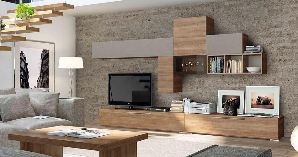 Muebles v zquez salones for Salones de madera modernos