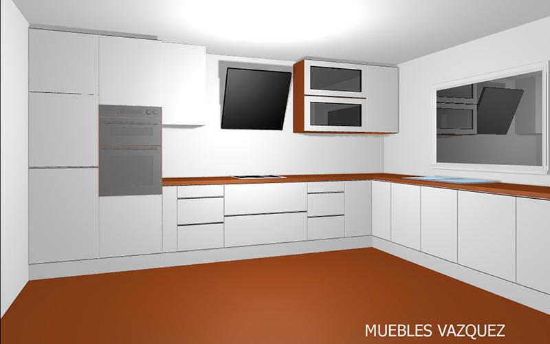 Muebles Vazquez Santa Olalla cocina 3d